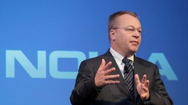 """As Nokia boss, Stephen Elop entered corporate folklore with his """"burning platform"""" memo: """"We too, are standing on a 'burning platform',"""" he told staff."""