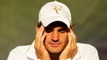 The great man, Roger Federer, in unchartered territory.