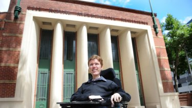 Mark Brown is excited to be moving out of his parents' home and into an apartment in the refurbished former Royal Melbourne Drill Hall.