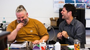 """Spark: Playwright and lyricist Brian Yorkey and composer Tom Kitt. """"Tom and I were casting around for something that was a little fresher than the usual fare,"""" Yorkey says."""