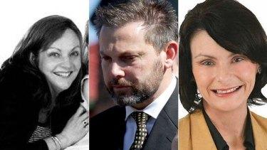 Allison Baden-Clay, her husband Gerard Baden-Clay and his former mistress Toni McHugh.