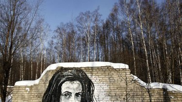 Another of P183's murals in Moscow.