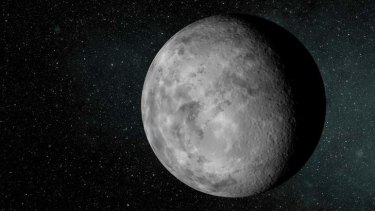 An artist's conception of the tiny new planet Kepler-37b, which is slightly larger than Earth's moon and orbits its host star every 13 days.