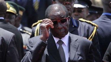 Robert Mugabe … questions raised about diamond revenue.
