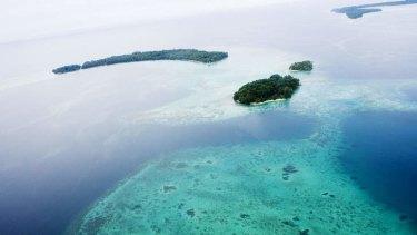 Shaken: The Solomon Islands seen from the air.