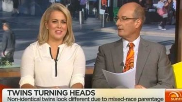 Mortified ... Sam Armytage upset by race bias suggestions, even though it earned her a sideways glance from David Koch.