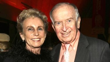 John Baker with Lady (Sonia) McMahon in 2007.