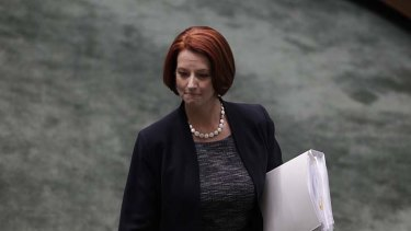 """The cabinet will back you but the caucus won't"" ... Julia Gillard was forced to abandon her vote on a resolution to give Palestine observer status in the UN."