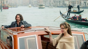 'Limp' ... Johnny Depp and Angelina Jolie in sluggish thriller <i>The Tourist</i>.