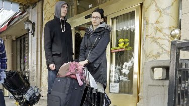 Hotel drama ... Michael and Sabina Baugh.
