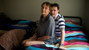 """""""I couldn't sleep the first night because we hadn't slept in a bed in a while but last night I slept like a log"""": Teresa and Shane are looking to find work."""