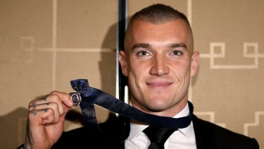 Dusty Martin and his Brownlow medal.
