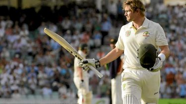 Shane Watson's century: 114 balls and 172 minutes plus 47 Test innings and three years.