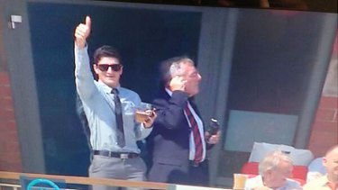 All's good? Well, not quite. Prahran club cricketer Daniel Salpietro in the stands at Old Trafford.