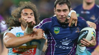 Less than happy: Cameron Smith.