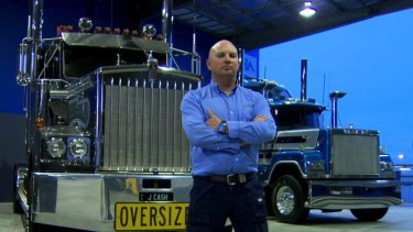 Trucking boss Jon Kelly, whose his colourful language matches the trucks in his fleet.