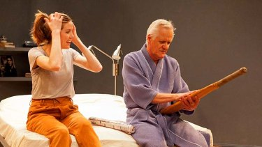 Wryly funny ... Belinda Bromilow and Tony Llewellyn-Jones in <em>This Year's Ashes</em>.
