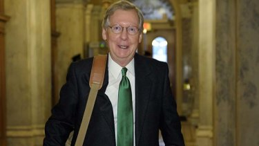 Mitch McConnell .. negotiated with Joe Biden over the phone.