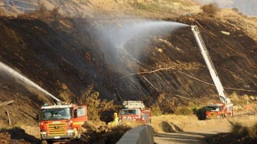 Fire crews at work at Hazelwood.