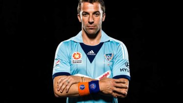 Got the blues: The Italian import looks to be increasingly uncomfortable when wearing or playing in the Sydney FC strip.