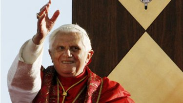 Pope Benedict XVI waves as he arrives at Bangaroo for his official World Youth Day welcome.