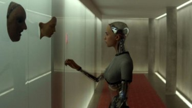Ava as she appears in the film, as an AI life form.