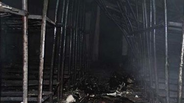 The fire ripped through the prison.