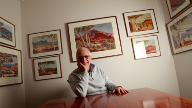 Paintings by Albert Namatjira and his family are among the works collected by Carrillo Gantner  since the 1970s.