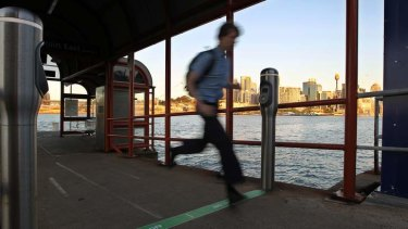 See ya: The majority of ferry wharves don't have gates.