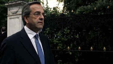 """""""It is absolutely necessary to have the broader support of political parties"""" ... Antonis Samaras, New Democracy leader."""