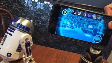 Artoo taking you on a virtual tour of the Millennium Falcon.