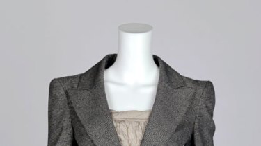 Fitted ... Cue jacket, $259, and skirt $179, 1800 060 706, T.L.Wood metal thread top, $350, (03) 9521 5834.