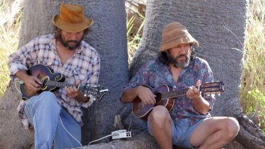 Kimberley  calling ... musician brothers Alan (left) and Stephen Pigram in <i>Mad Bastards</i>.