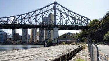 The Howard Smith Wharves, beneath the Story Bridge, in Brisbane's CBD.