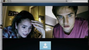 Close watch: Shelley Hennig and Matthew Bohrer in <i>Unfriended</i>.