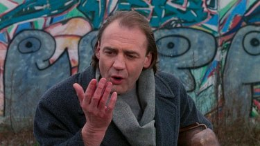 Bruno Ganz as the angel Damiel in <i>Wings of Desire</I>.