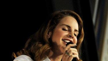 Controversial ... singer Lana Del Rey.