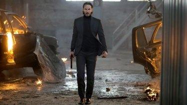 An angry guy: Keanu Reeves in <i>John Wick</I>.