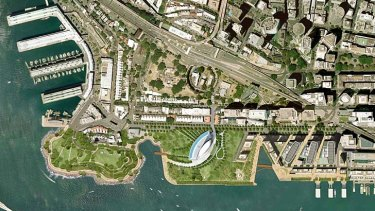 Packer's proposed 6 star hotel and casino site in Central Barangaroo.