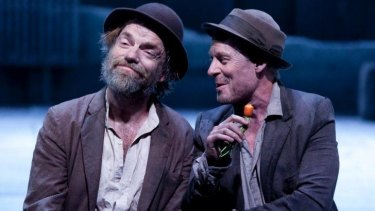 Hugo Weaving and Richard Roxburgh in the Sydney Theatre Company's Waiting for Godot.
