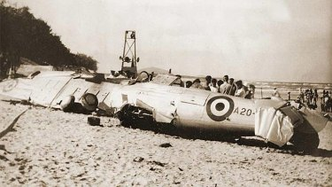 The remains of the RAAF Wirraway A20-212 plane crashed at Maroochydore in 1950.