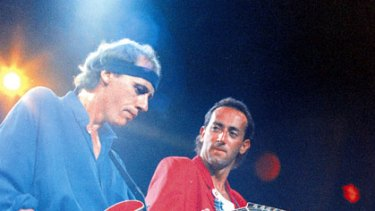Height of fame ... Dire Straits perform in Sydney.