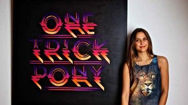 Different strokes &#8230; Gemma O'Brien with her work <em>One Trick Pony</em>.