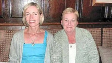 Denise Morcombe (right) with Kate McCann, the mother of missing British child Madeleine McCann.