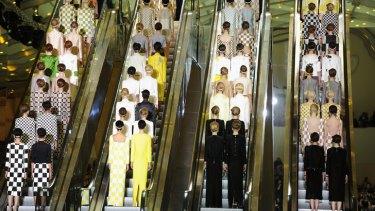 Louis Vuitton put on quite the spectacle to close Paris Fashion Week - despite a conspicuous lack of LV logos.