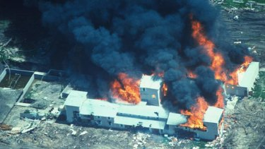 Inferno … the Branch Davidian compound in Waco, Texas, on fire in April, 1993.