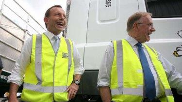 Tony Abbott and his office has been attacked by Senator Ian Macdonald (right).