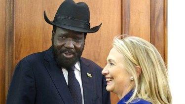 Hillary Clinton tells Salva Kiir to make lasting peace with Sudan.