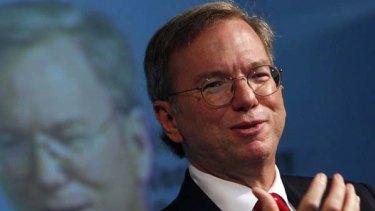 Google Inc. Chief Executive Officer Eric Schmidt.