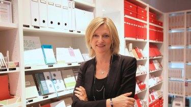 Swedish star … Kristina Karlsson in one of her kikki.K stores.